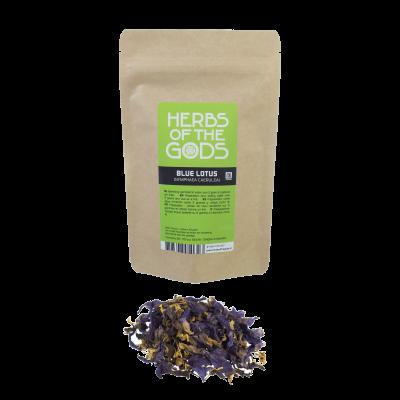 Herbs of the Gods Blue lotus (Nymphaea caerulea) Shredded 20g