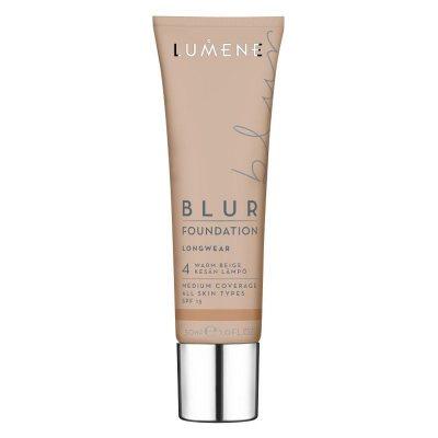 Lumene Longwear Blur Foundation 4 Warm Beige SPF15 30ml